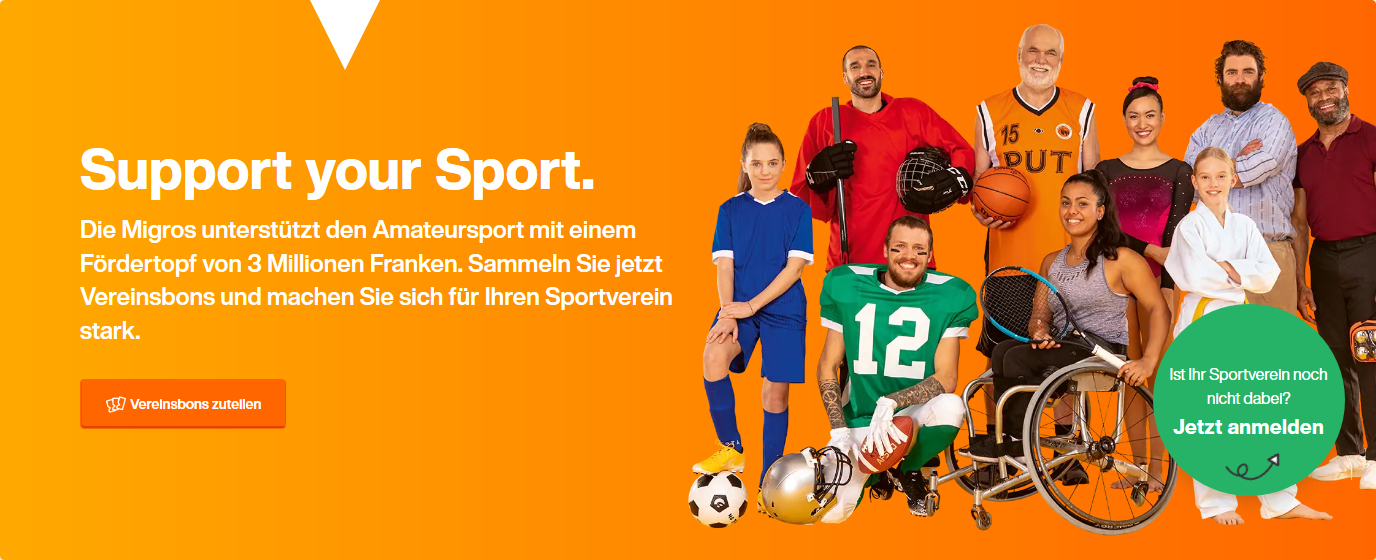 Migros Aktion Support your Sport